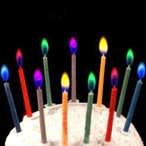 Свечи с цветным пламенем (6 шт)