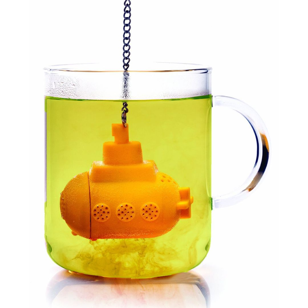 Заварник для чая Подводная лодка (Желтый) В кружке с чаем