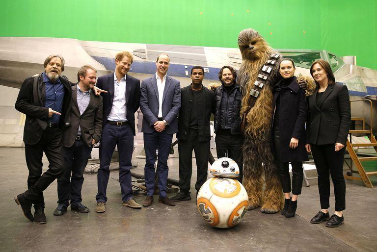 Британские принцы Уильям и Гарри на съемках фильма Звездные войны