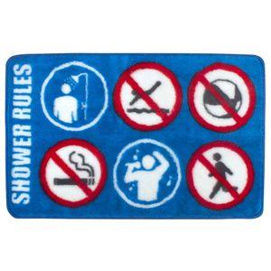 Коврик для ванной Правила душа Shower rules