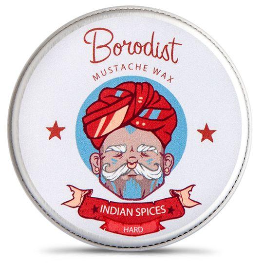 Воск для усов Borodist (Indian Spices) С запахом индийских специй