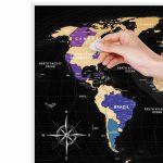Скретч-карта мира Travel Map Black World (на английском)