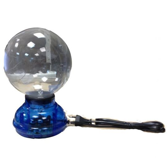 Плазменный шар 15 см с голубой подсветкой