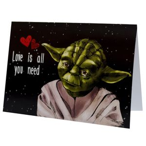 Открытка Star Wars Йода Love is all you need