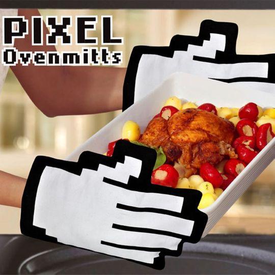 Варежки-прихватки для горячего Пиксели Использование