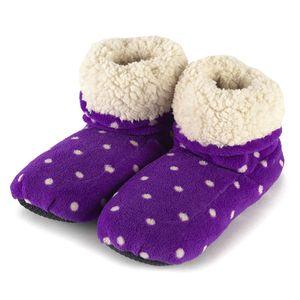 Сапожки-грелки (фиолетовые в горошек)