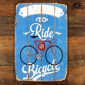 Металлическая табличка I Want to Ride My Bicycle