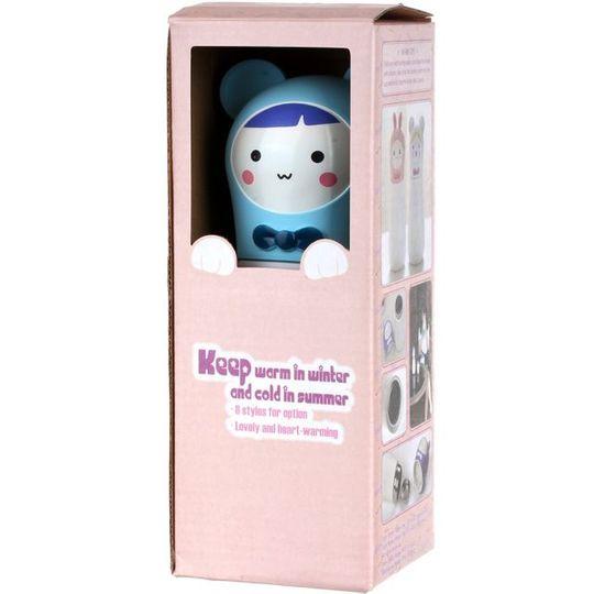 Кружка-термос Мишка Bear (Белый с голубым) Упаковка