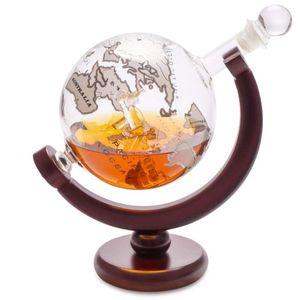 Декантер для виски на деревянной подставке Globe (0.8 л)
