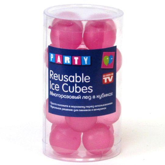 Многоразовый лед Reusable Ice Cubes (Розовый)
