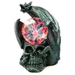 Плазменный шар Дракон на черепе