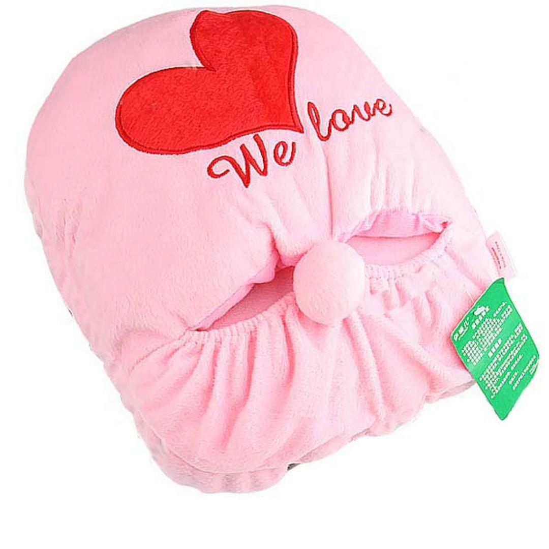 Тапок с подогревом от USB Розовый с сердечком