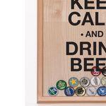 Копилка для пивных крышек Keep Calm And Drink Beer