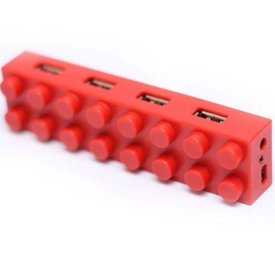 USB Хаб Лего (Красный)