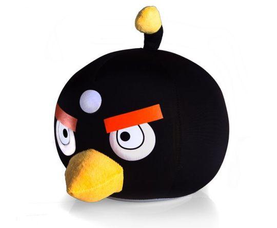 Игрушка Angry Birds Антистресс 20 см Черная птичка
