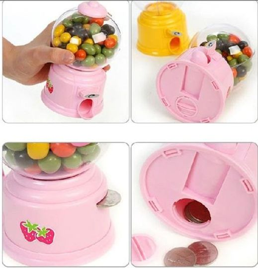 Копилка Конфетница Candy Machine (Розовая) Отделения для конфет и для монет