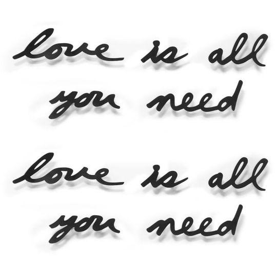 Надпись на стену Love is all you need
