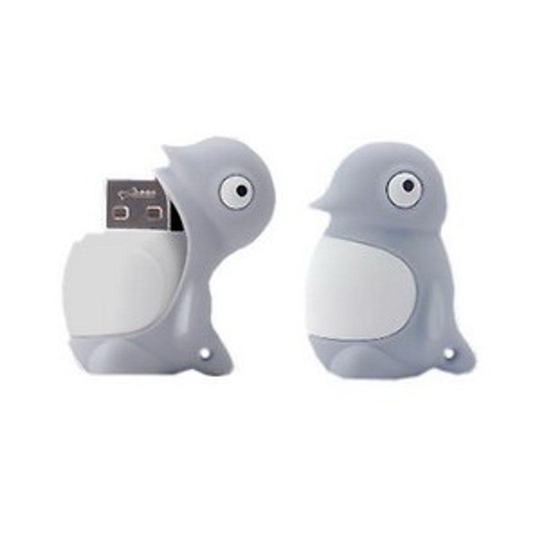 Флешка Пингвин Серый 8 Гб