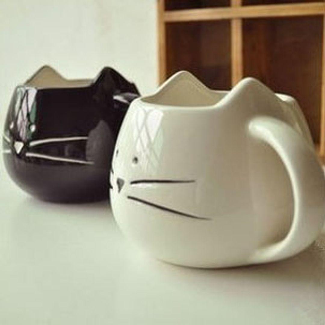 Кружка Котенок (Белая и черная)