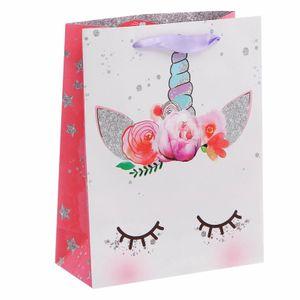 Подарочный пакет Единорог Мечтай (18 х 23  х 8 см)