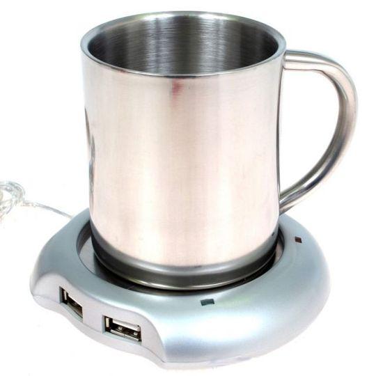 USB Хаб Подогреватель для чашки С чашкой