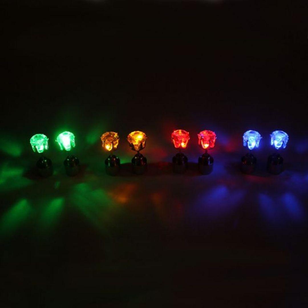 Светящиеся светодиодные серьги: круглые зеленые, желтые, красные, голубые