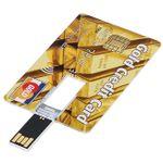 Флешка Кредитка Gold Credit Card 16 Гб Готова к использованию