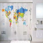 Шторка для ванной Карта мира