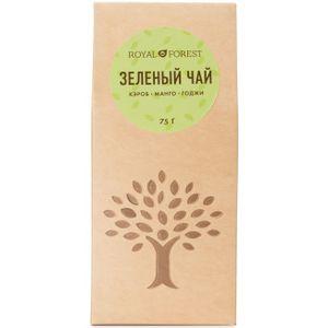 Зеленый чай Байховый ганпаудер (кэроб, манго, годжи) (75 г)