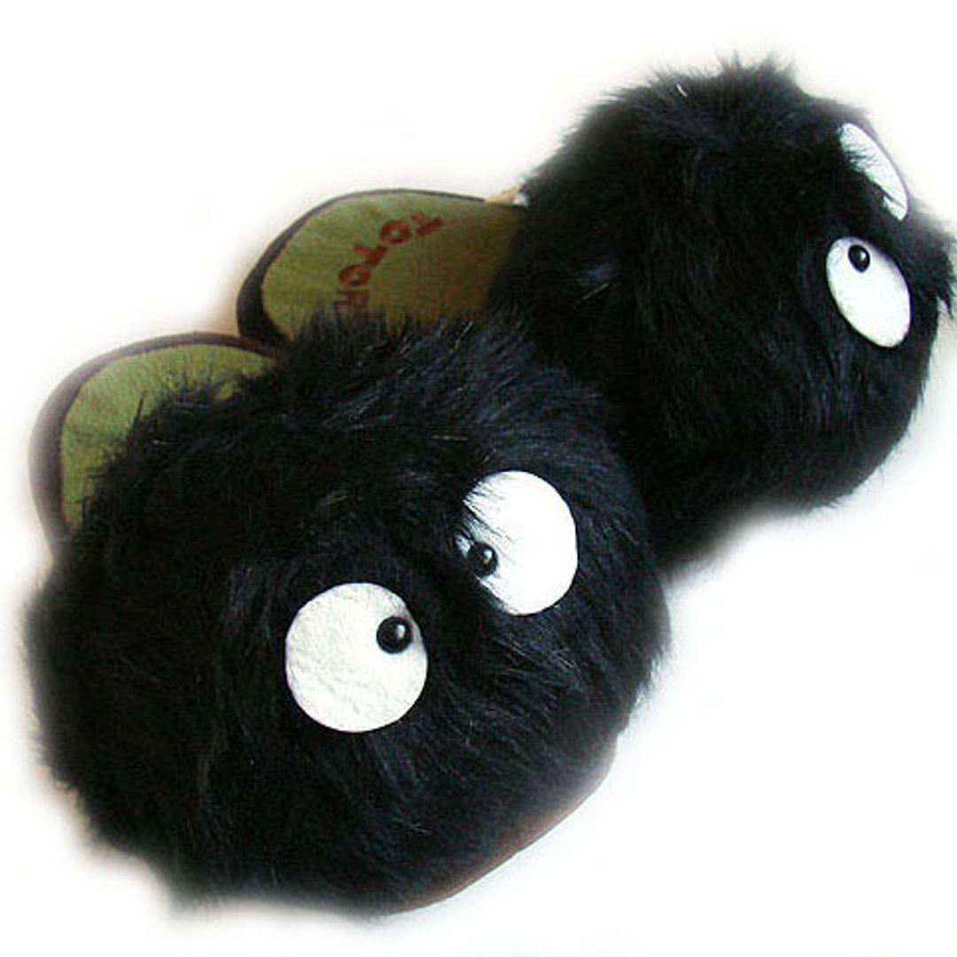 Тапочки Черные Чернушки из мультфильма Тоторо