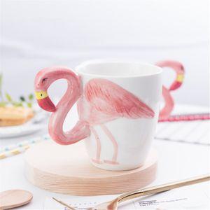 Кружка 3D Фламинго