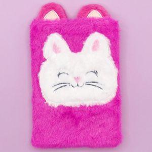 Блокнот плюшевый Cat violet