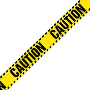 Магнитная лента на холодильник Caution