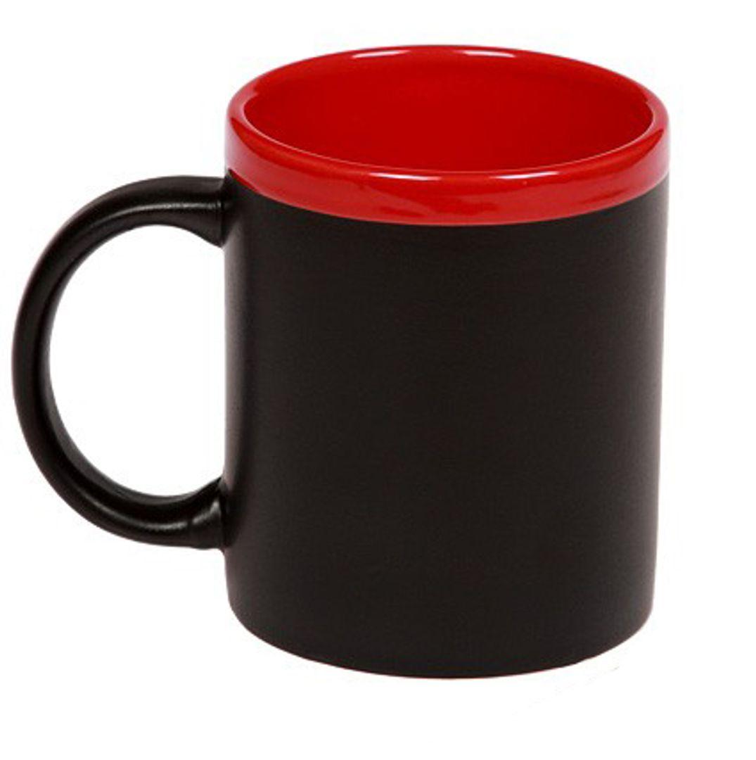 Кружка для рисования мелом (Красная) Без надписей