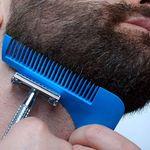 Расческа для бороды с щеткой