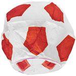 Летающий фонарик Футбольный мяч (Красный с белым)