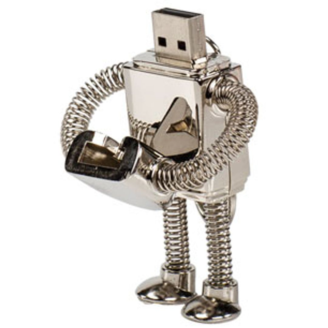 Флешка Робот 8 Гб Со снятой крышкой
