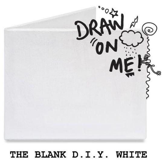 Бумажный Бумажник Mighty Wallet (The Blank D.I.Y. White)