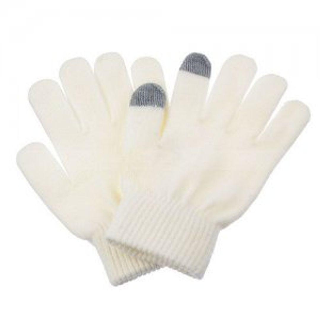 Перчатки для сенсорного экрана Белые