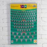 Мотивационный скрэтч-постер 100 больших дел