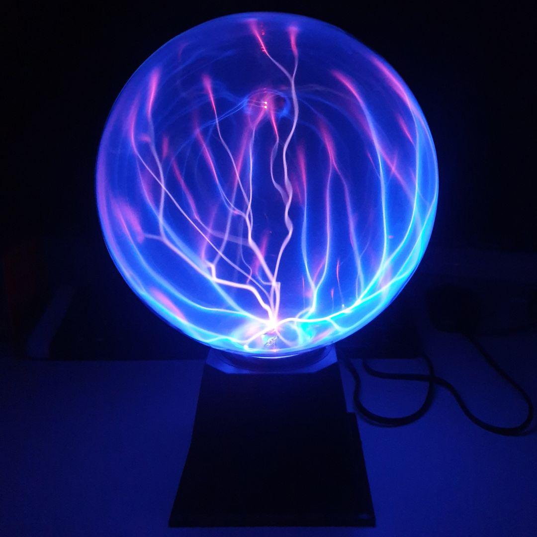 Плазменный шар 20 см с синей подсветкой от 2 250 руб