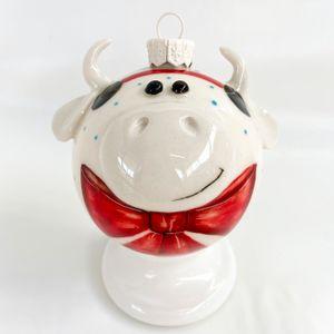 Фарфоровый елочный шар Божья коровка (ручная роспись)