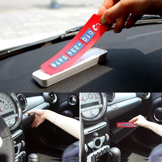 Табличка на авто с номером телефона (Красный)