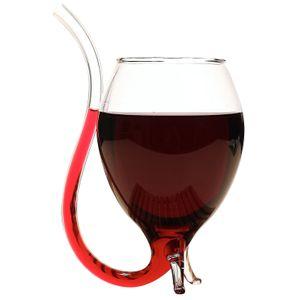 Винный бокал с трубочкой Вампир