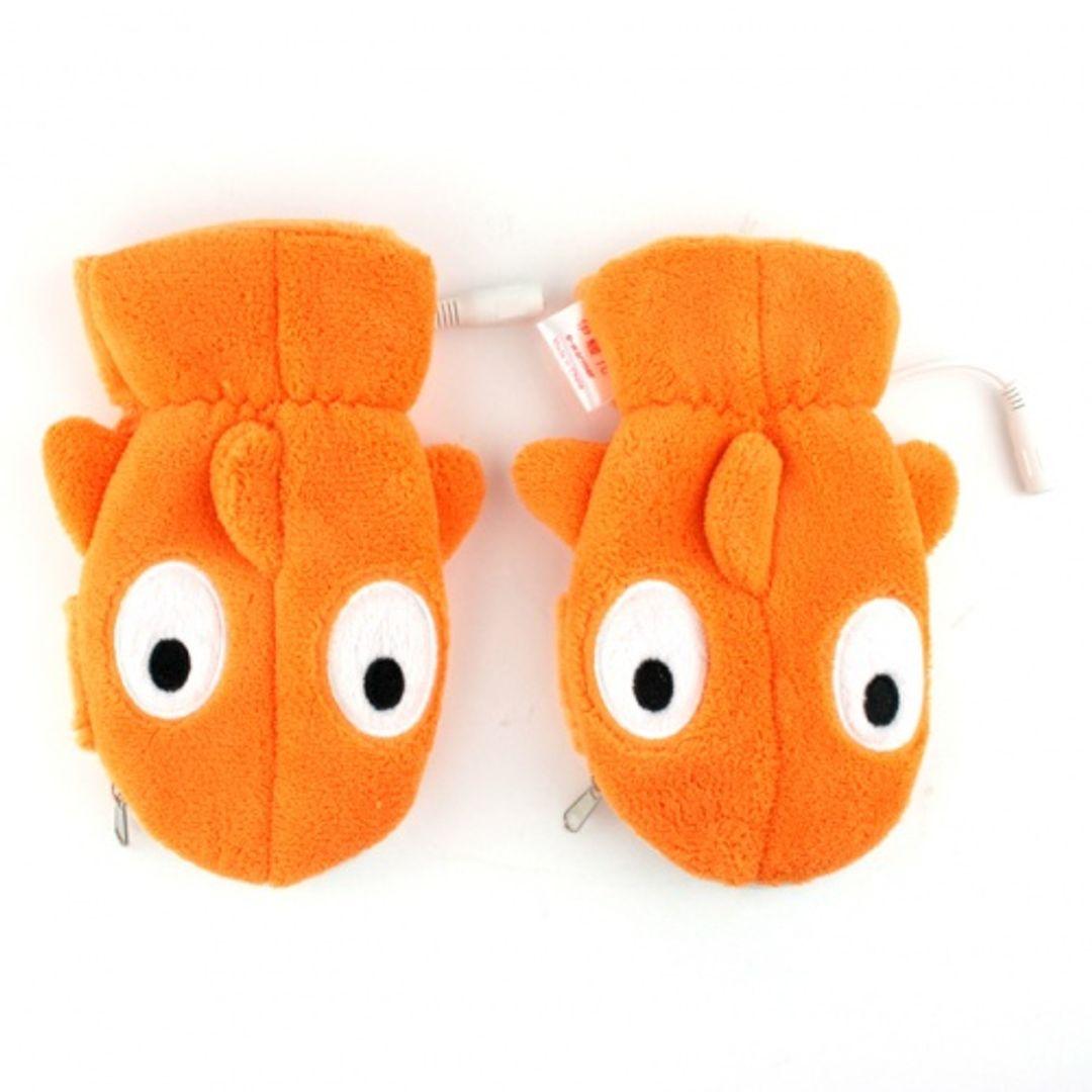 Перчатки с подогревом от USB Оранжевая рыбка