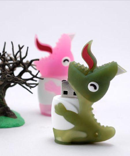 Флешка Динозавр Зеленый 2 Гб
