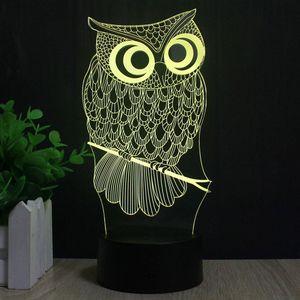 3D Лампа Сова