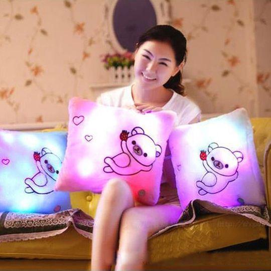 Светящаяся подушка Мишка В жизни