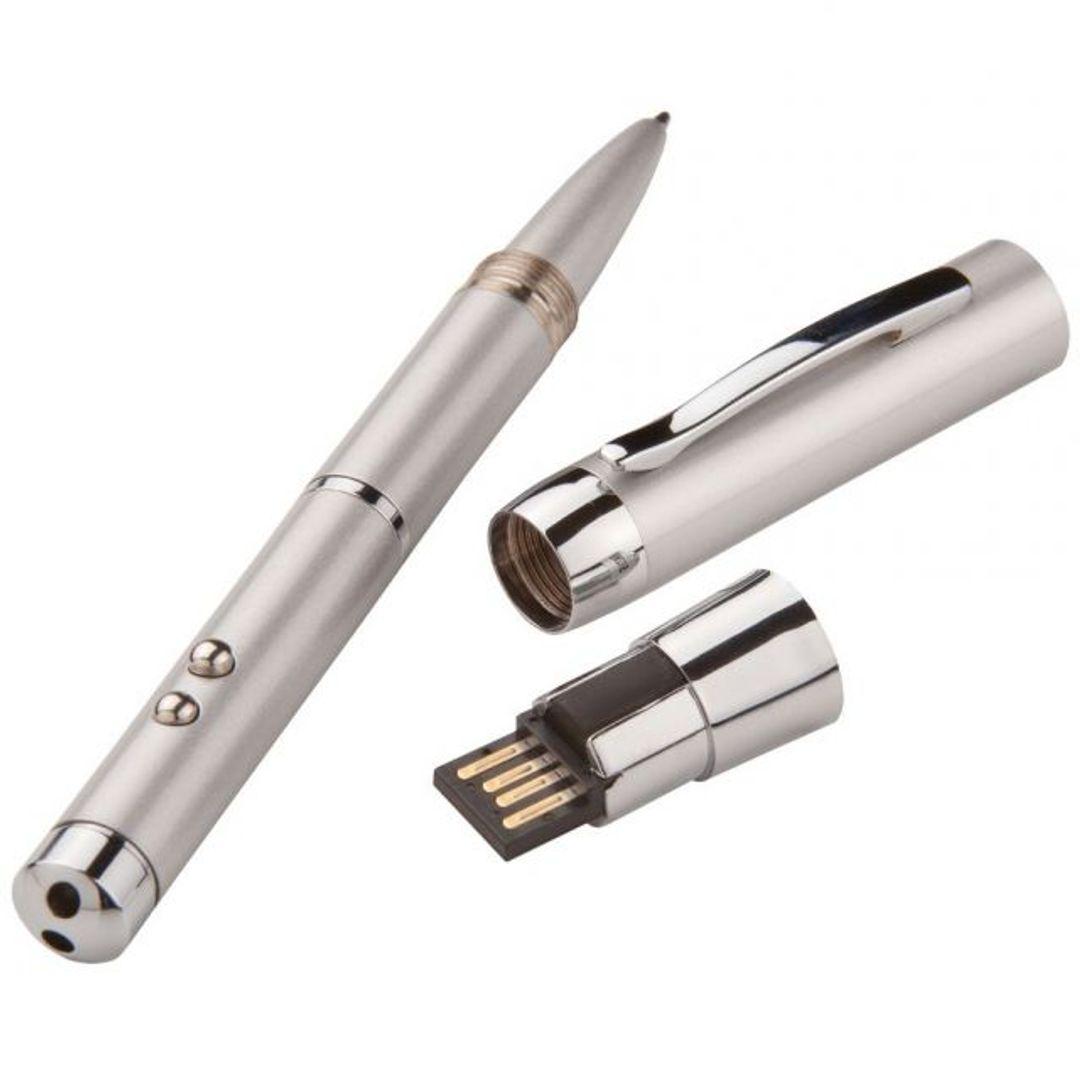 Флешка Ручка с фонариком и указкой 8 Гб