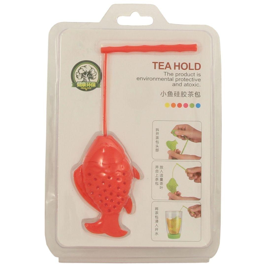 Заварник для чая Рыбка (Красный) Упаковка